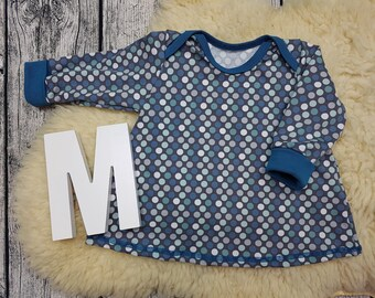 Long sleeve tunic, longsleeve, gift, baby, Mitwachstunkia, tunic, baby tunic, American neckline, dots, polka dots