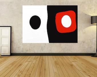 Orange Painting Black paintings White artwork Huge Wall art Canvas Paintings Abstract Painting paintings on canvas Huge painting JerryTitan