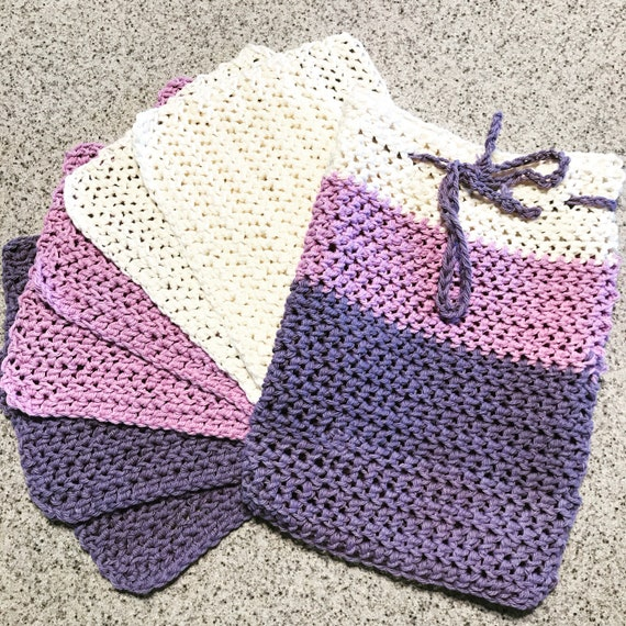 Custom Set of 6 100% Cotton Reusable Dish Cloths