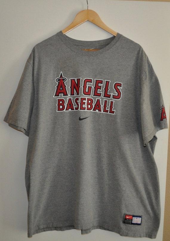 Men's Sz 3X Nike Angels Baseball Official Merchandise Gray T-Shirt Tee