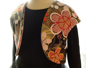 SALE - PDF e-Pattern - Girl's Reversible Bolero Shrug - 5 sizes - 1 to 5 years - Sewing Pattern
