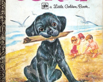 CORKY Vintage Children's Little Golden Book by Patricia Scarry Illustrated by Irma Wilde
