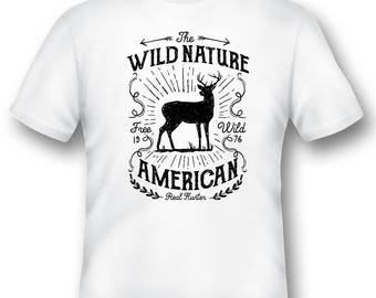 Wild Nature American Real Hunter tee shirt 08012016