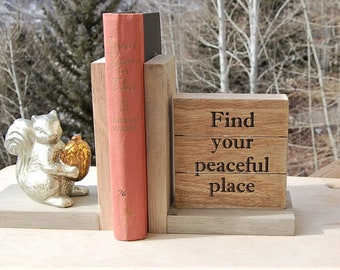 Squirrel Bookends Find your Peaceful Place
