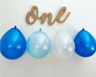 "Custom first birthday ""one"" sign"