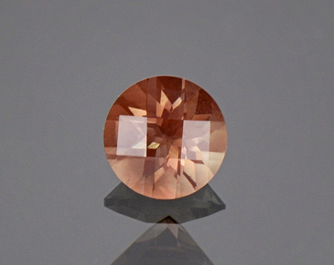 Interesting Checkerboard Round Sunstone Gem from Oregon 1.13 cts.