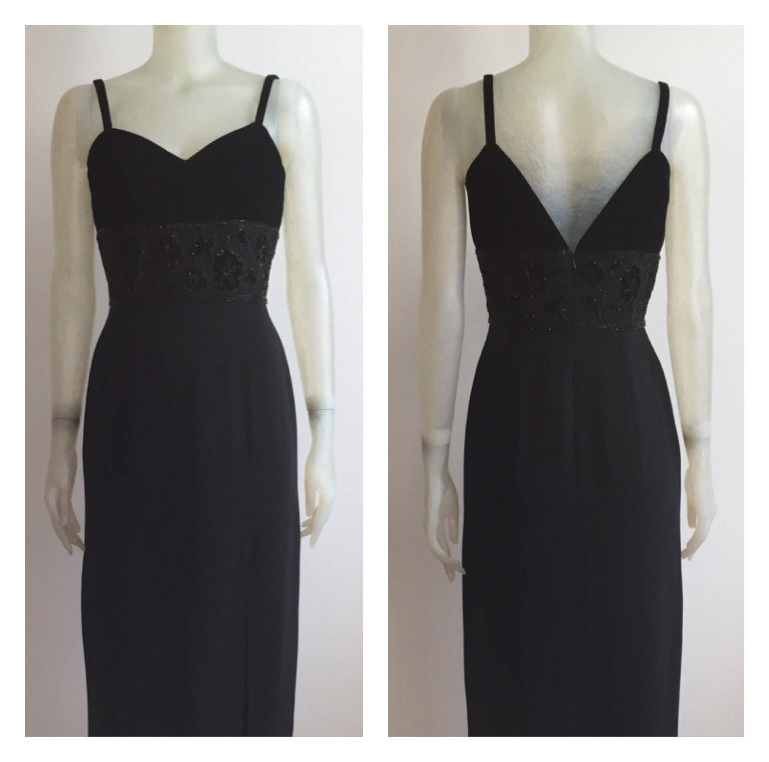 Oleg Cassini black tie evening gown