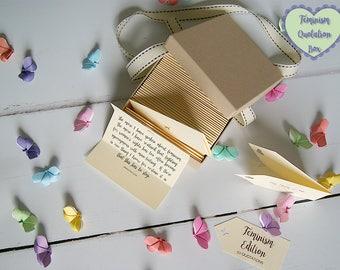 Feminism Quotes - Box of 50 Handmade Quotations