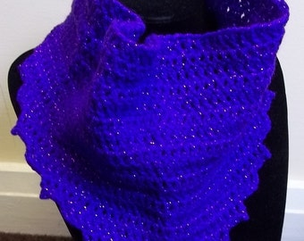 Cowl scarf in imperial purple