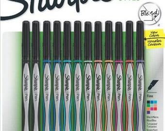 12 Sharpie Pen - Color Fine Point Pens | Calligraphy Pen, Colored Pens,  Color