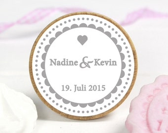 COOKIE STAMP - Names and wedding date