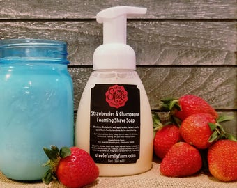 Foaming Shave Soap- Strawberries & Champagne