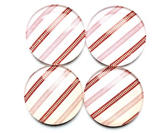 Glass Magnets - red magnets  - office magnets - office supplies - strioed magnets - magnet boards