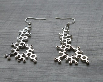 Biolojewelry - Oxytocin Molecule Statement Earrings