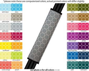 Seat Belt Cover // AUTO PAD // Car Accessories // seat belt pad - Rings - Pick Your Own Color - Custom seatbelt circle geometric pattern