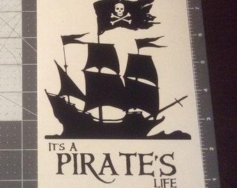 Pirate's Life Vinyl Adhesive Decal