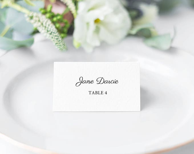 Featured listing image: Monet, Printable Modern Script Style Place Cards/ Seating Cards