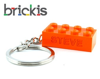 LEGO® personalized keychain with name engraved