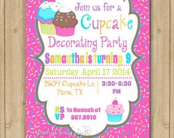 cupcake invitation cupcake birthday invitation cupcake