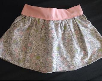 Skirt in organic cotton flower
