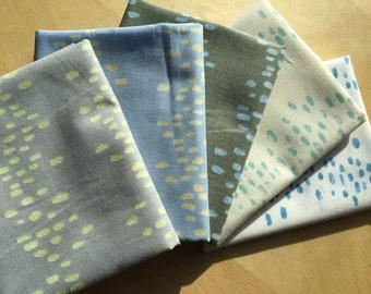 FAT QUARTER bundle Rain Japanese cotton fabric