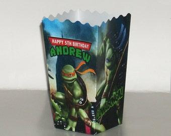 10 TMNT Teenage Mutant Ninja Turtles Birthday POPCORN favors boxes