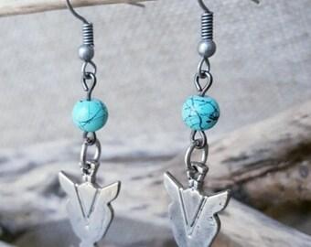 Boho Arrowhead dangle earings