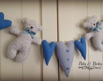 Teddy and Heart hanger