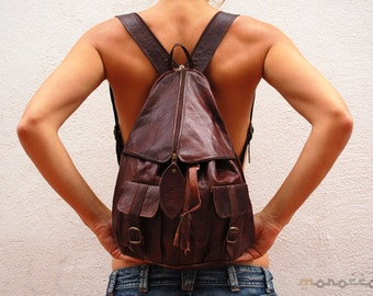 Leather Backpack, Traditional Design Morocco, Handmade Backpack, Leather Bag, Moroccan Style, Woman Leather Backpack, High Quality