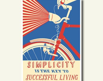 Bamboo Paper - Cycling Print Bicycle Poster Cycling  Bike Poster Cycling Decor Cycling Poster Bicycle  Cycling Art   bp