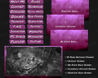 Shades - Pink - Twitch Overlay Pack