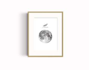 Back to the moon Wall Art