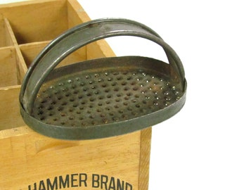 Rustic Hand Held Oval Grater Vintage