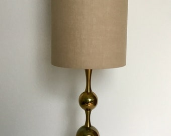 Solid Brass Table Lamp Hollywood Regency Mid Century Modern 1970s