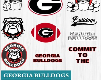 INSTANT DOWNLOAD_Georgia Dawgs SVG, Georgia Bulldogs Monogram, Georgia DXF