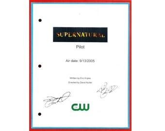 Supernatural Pilot Episode TV Script Autographed: Jared Padalecki, Jensen Ackles