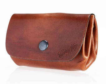 """""""Grandfather"""" wallet leather (large)"""
