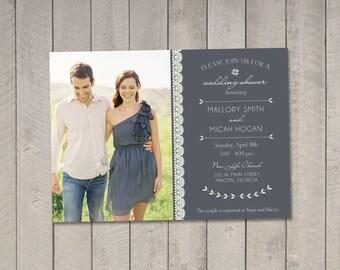 Wedding Couples Shower Invitation DIY (Printable) by Vintage Sweet