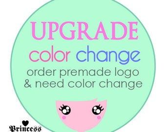 Add on Service - Change the color of premade logo design, upgrade, additional cost for colour change