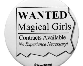 Puella Magi Madoka Magica 2-Inch Anime Button (Wanted: Magical Girls)