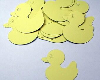 30 Yellow Die Cut Duckies