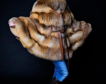 Fur poncho, Fox fur poncho, fox fur, fur coat, fox fur coat, cape, fox cape, fur cape, fox fur cape, Siberian fur, Siberian fox fur