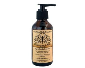 Frankincense & Myrrh massage oil organic body oil organic massage oil yoga gift meditation oil natural massage oil natural bath oil