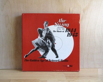 Vintage Vinyl Records, Swing Music Albums, 3 LP Box Set with Book by Time Life Books, Big Band Swing Dancing Music of the 1940s