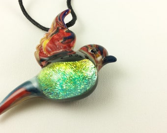 Bird - Glass Necklace