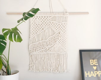 Landscape picture macrame wall hanging - mountains
