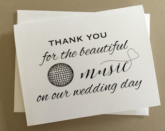 Wedding DJ Thank you card,A2 Wedding Day Cards(WDC-PR07)