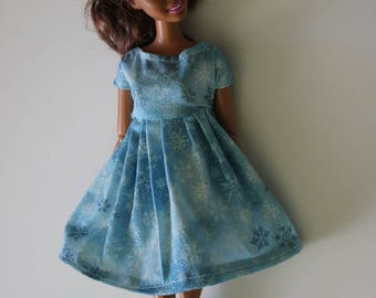11.5 inch doll such as barbie snowflake dress