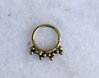 Septum, Septum Ring, Nose Septum Jewelry, Septum Piercing, Nose Ring, Septums, Real Septum, Brass Septum,