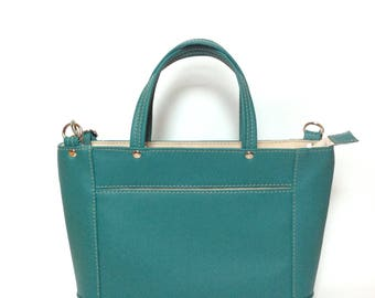 Everyday Handbag Bayou Teal/Faux Leather/Spring Bag